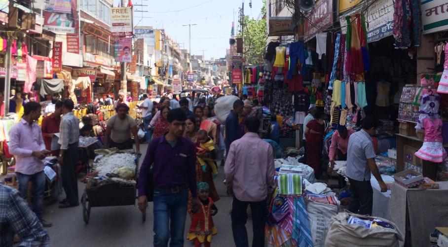 Las calles congestionadas de Varanasi
